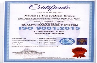 AIG certified on ISO 9001 (QMS) & ISO 27001 (ISMS)