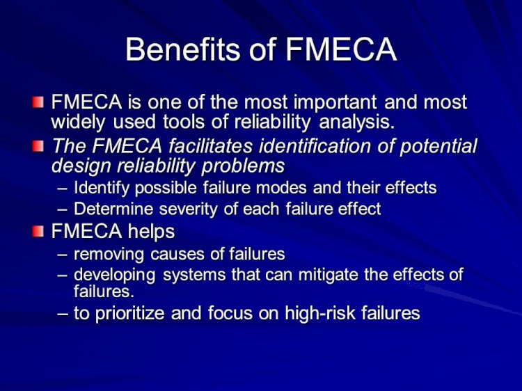 Importance of Criticality in FMECA