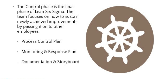 What Happens in Control phase in a Six Sigma Project?